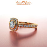 How to pick a diamond for a Rose Gold Engagement Ring