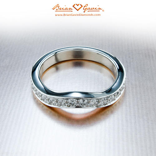 diamond ring bands angle anniversary rings band wedding l fashion her