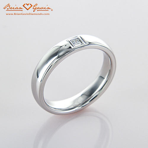 mens 18ct white gold 7 stone diamond wedding ring - Man Wedding Ring