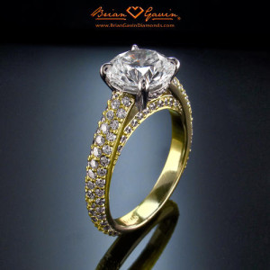 Classic Solitaire Halo Or Pave Engagement Ring Settings