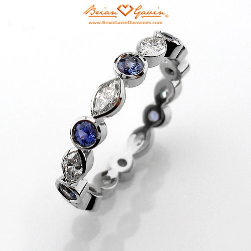 Yogo Sapphire Enement Rings | Guide To Stackable Wedding Bands