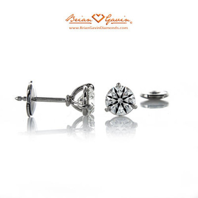 3 prong martini vs 4 prong basket style diamond stud earrings