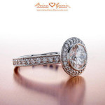 What color diamond should I buy with a halo setting?