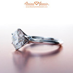 What type of cut is the Tiffany solitaire diamond ring?