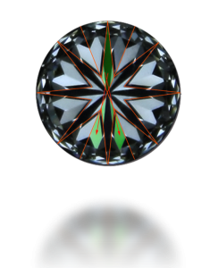 hearts patter in a round diamond