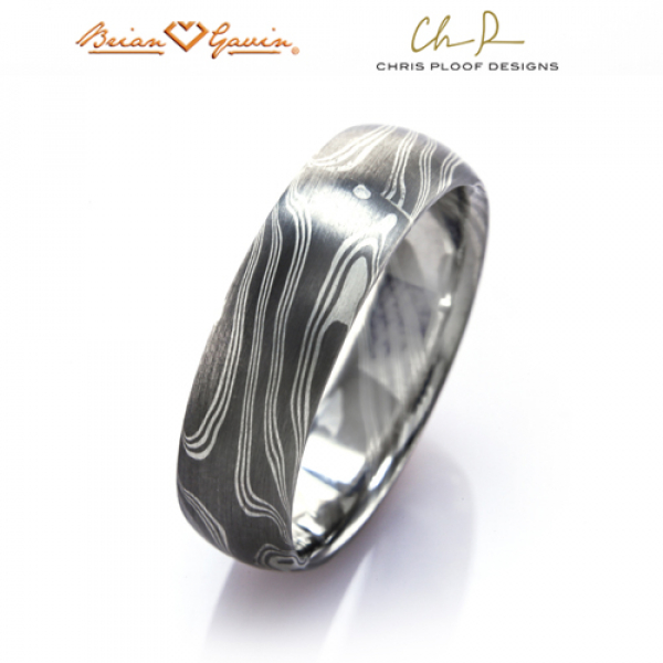 mokume gane walnut style woodgrain metal rings bands chris ploof brian gavin