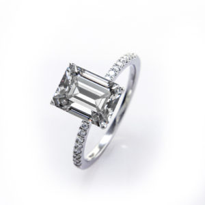 Parade Designs R2996 Engagement Ring for Emerald Cut and Square Shape Stones