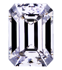 Brian Gavin Signature Emerald Cut Diamond Face Up Shot