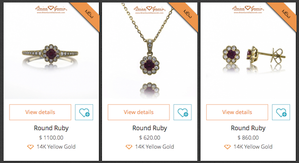 Gift Guide: Red Ruby Rings, Pendants & Earrings