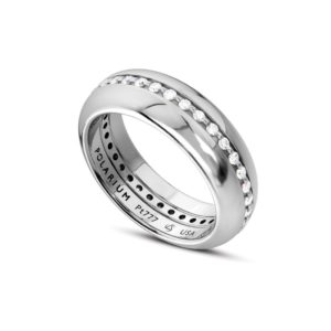 half round 3 piece diamond wedding band polarium set from steven kretchmer