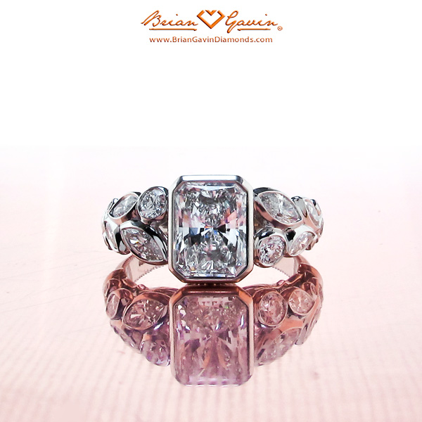Radiant cut diamonds engagement ring2