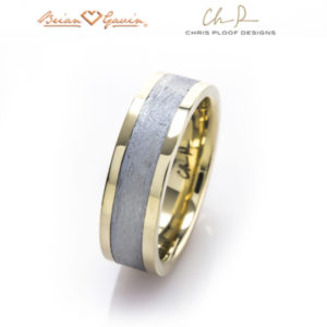 gibeon meteorite rings and bands - capella by chris proof