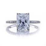Brian Gavin Signature Emerald Cut Engagement Ring