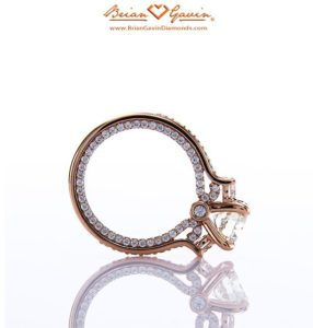 Signature Diamond Melee with Hearts and Arrows in Rose Gold Engagement Ring