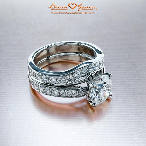 diamond matching match bands with ring media unique wedding knot set infinity rings engagement